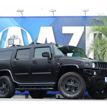 HUMMER H2 新車並行車 KMCホイール 黒革 ギブソンマフラー