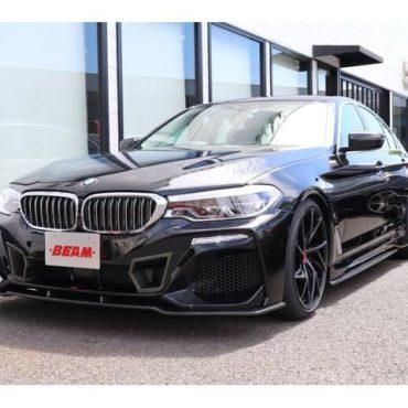 BMW 523dラグジュアリー BEAMコンプリートカー ワンオーナー 黒革